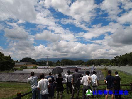 北杜市太陽光発電施設・小水力発電施設見学会